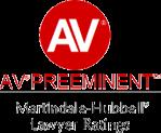 AV Preeminent Martindale Hubbell Lawyer Ratings